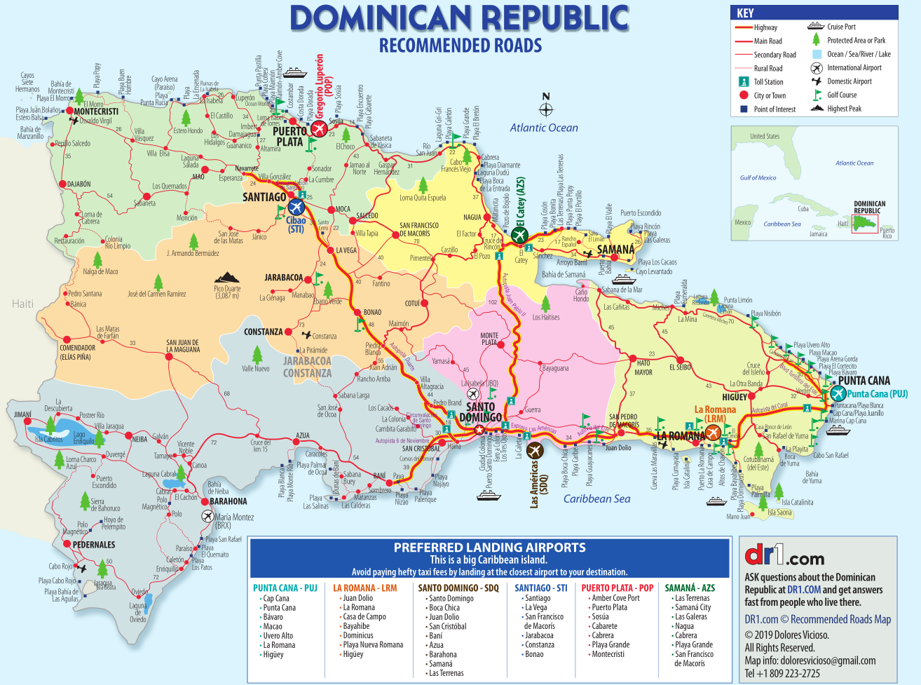 DR1.com Map of Dominican Republic